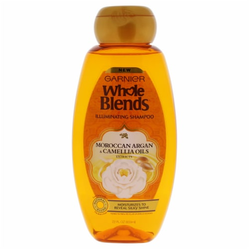 Garnier Whole Blends Moroccan Argan & Camellia Oils Extracts Illuminating Shampoo 22 oz Perspective: front