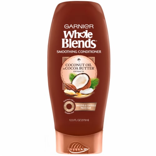Garnier Whole Blends Coconut Oil & Cocoa Butter Smoothing Conditioner Perspective: front