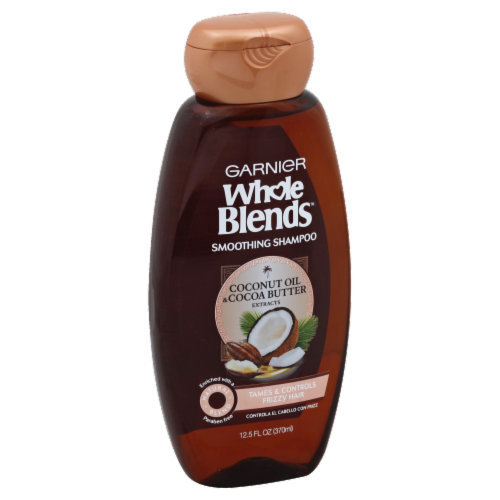 Garnier Whole Blends Coconut Oil & Cocoa Butter Smoothing Shampoo Perspective: front