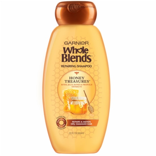 Garnier Whole Blends Honey Treasures Repairing Shampoo Perspective: front