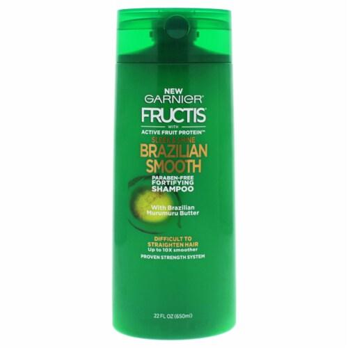 Fructis Sleek Shine Brazilian Smooth Shampoo by Garnier for Unisex - 22 oz Shampoo Perspective: front