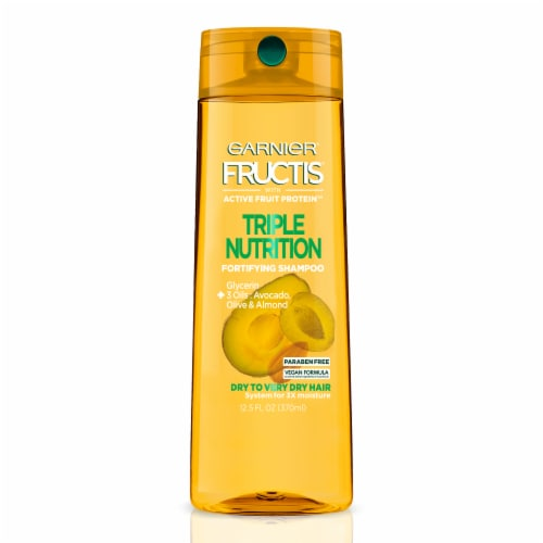Garnier Fructis Triple Nutrition Paraben-Free Fortifying Shampoo Perspective: front