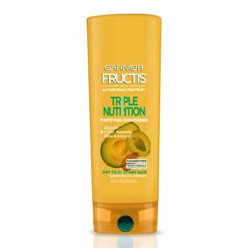 Garnier Fructis Triple Nutrition Avocado Olive & Almond Oils Conditioner Perspective: front