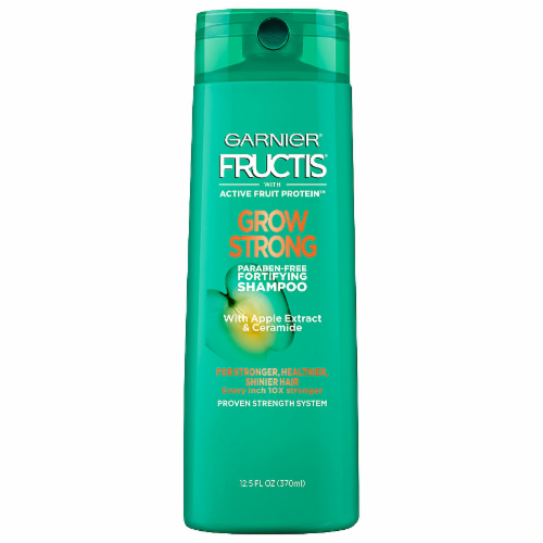 Garnier Fructis Grow Strong Apple Extract & Ceramide Shampoo Perspective: front