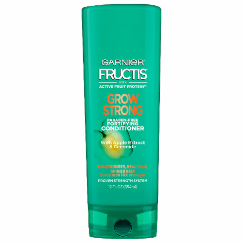 Garnier Fructis Grow Strong Apple Extract & Ceramide Conditioner Perspective: front