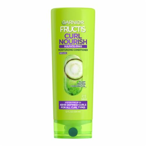 Garnier Fructis 3x Nourishment Curl Nourish Coconut Jojoba & Macadamia Oils Conditioner Perspective: front