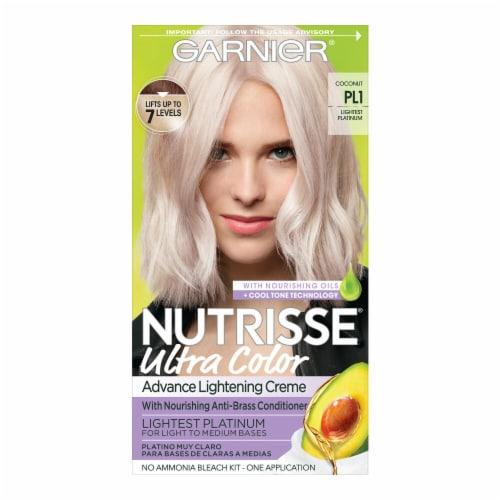 Garnier Nutrisse PL1 Lightest Platinum Advanced Lightening Creme Hair Color Perspective: front