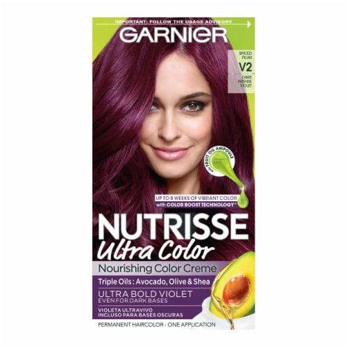 Garnier® Nutrisse® Ultra Color V2 Dark Intense Violet Permanent Hair Color Perspective: front