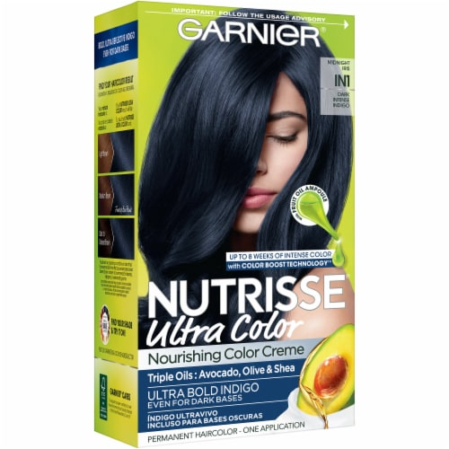 Garnier Nutrisse Ultra Color IN1 Dark Intense Indigo Hair Color Perspective: front