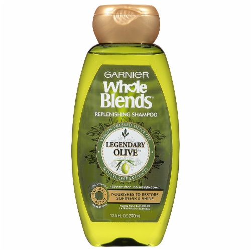 Garnier Whole Blends Legendary Olive Replenishing Shampoo Perspective: front