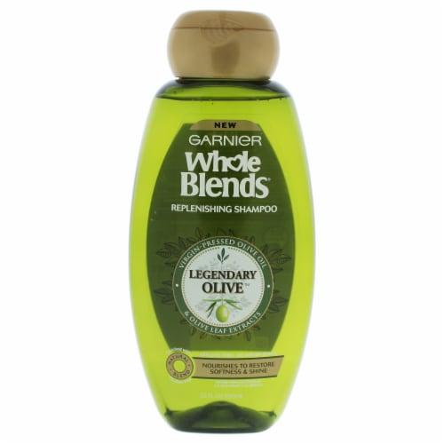 Garnier Whole Blends Legendary Olive Replenishing Shampoo 22 oz Perspective: front