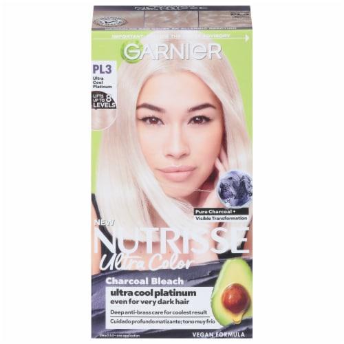 Garnier Nutrisse Ultra Coverage 200 Black Sesame Hair Color Perspective: front