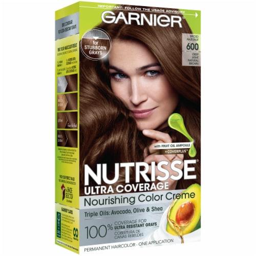 Garnier Nutrisse Ultra Coverage 600 Spiced Hazelnut Hair Color Perspective: front