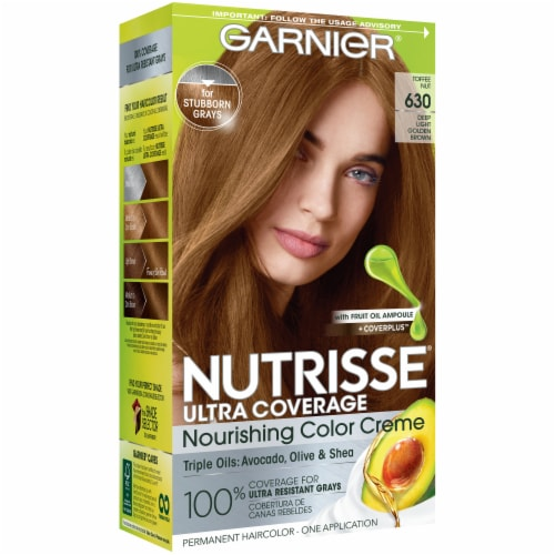 Garnier Nutrisse Ultra Coverage 630 Toffee Nut Hair Color Perspective: front