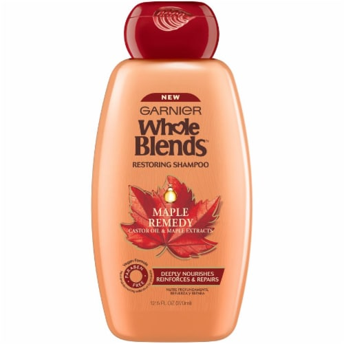 Garnier Whole Blends Maple Remedy Restoring Shampoo Perspective: front