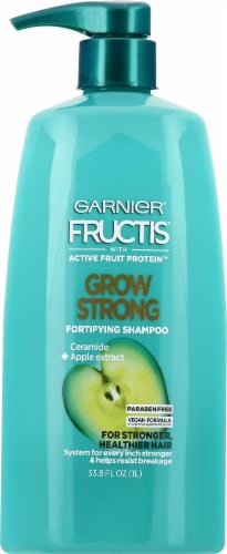 Garnier Fructis Grow Strong Ceramide & Apple Extract Fortifying Shampoo Perspective: front