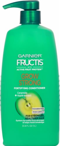 Garnier Fructis Grow Strong with Ceramide & Apple Extract Fortifying Conditioner Perspective: front