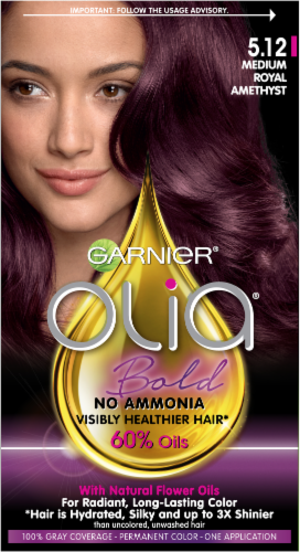 Garnier Olia Bold Medium Royal 5.12 Hair Color Perspective: front