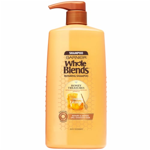 Garnier Whole Blends Honey Treasures Shampoo Perspective: front