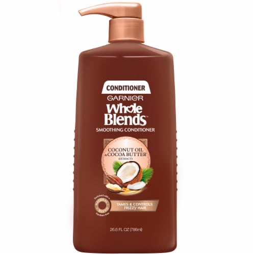 Garnier Whole Blends Coconut Oil & Cocoa Butter Conditioner Perspective: front