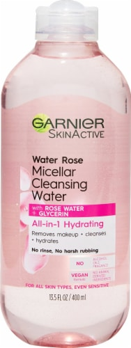 Garnier All-in-1 Hydrating Micellar Cleansing Water with Rose Water Perspective: front