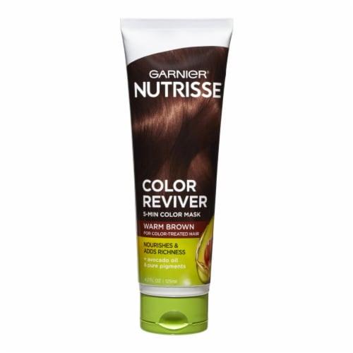 Garnier Nutrisse Color Reviver Warm Brown 5 Minute Color Mask Perspective: front