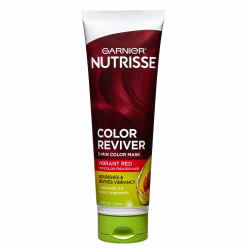 Garnier Nutrisse Color Reviver Vibrant Red 5 Minute Color Mask Perspective: front