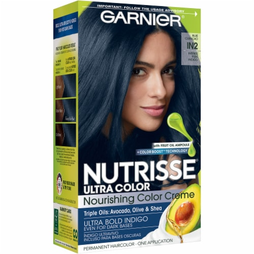 Garnier Nutrisse Ultra Color IN2 Blue Curacao Hair Color Perspective: front