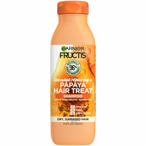 Garnier Fructis Papaya Extract Damage Repairing Treat Shampoo Perspective: front