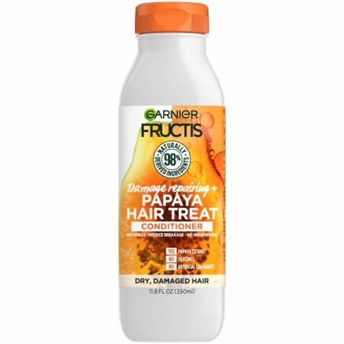 Garnier Fructis Papaya Extract Damage Repairing Treat Conditioner Perspective: front