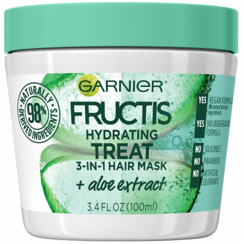 Garnier® Fructis® Hydrating Treat 1 Minute Aloe Extract Hair Mask Perspective: front