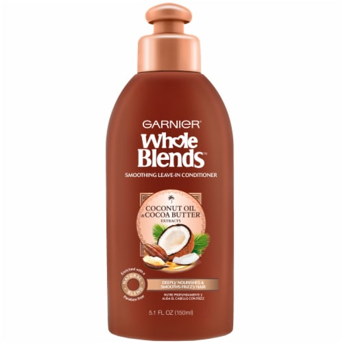 Garnier Whole Blends Coconut Oil & Cocoa Butter Extracts Leave-In Conditioner Perspective: front