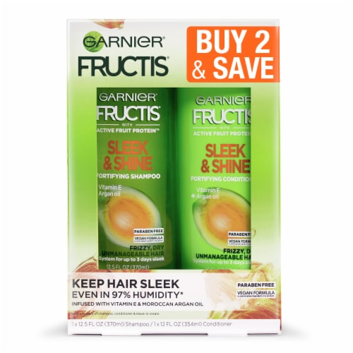 Garnier Fructis Sleek & Shine Shampoo and Conditioner Two Pack Perspective: front