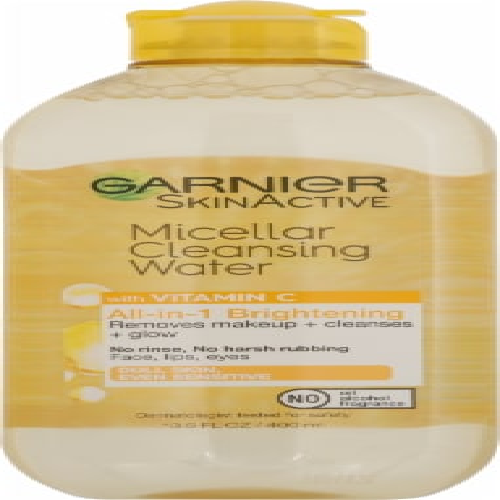 Garnier SkinActive All-in-1 Brightening Vitamin C Micellar Cleansing Water Perspective: front