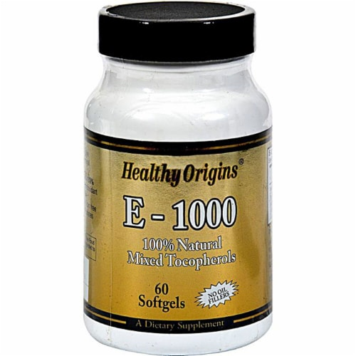 Healthy Origins E-1000 Supplement Perspective: front