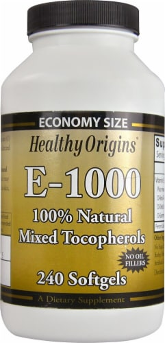 Healthy Origins E-1000 Supplements Perspective: front