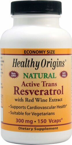 Healthy Origins  Natural Active Trans Resveratrol Supplement Perspective: front