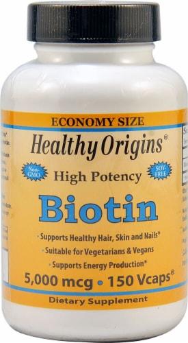 Healthy Origins  Biotin Perspective: front