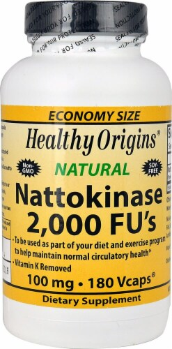 Healthy Origins  Nattokinase Vcaps 100 mg Perspective: front