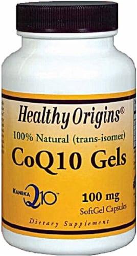 Healthy Origins  CoQ10 Gels Perspective: front