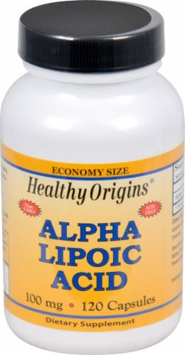 Healthy Origins Alpha Lipoic Acid Supplement Perspective: front