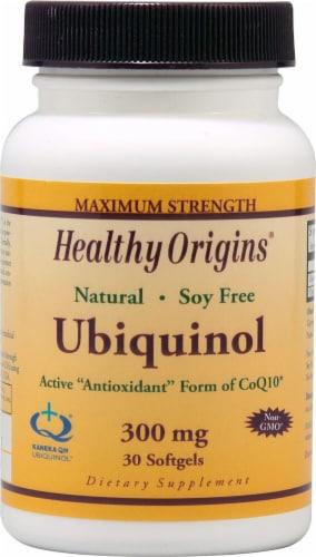 Healthy Origins Ubiquinol Supplement Perspective: front