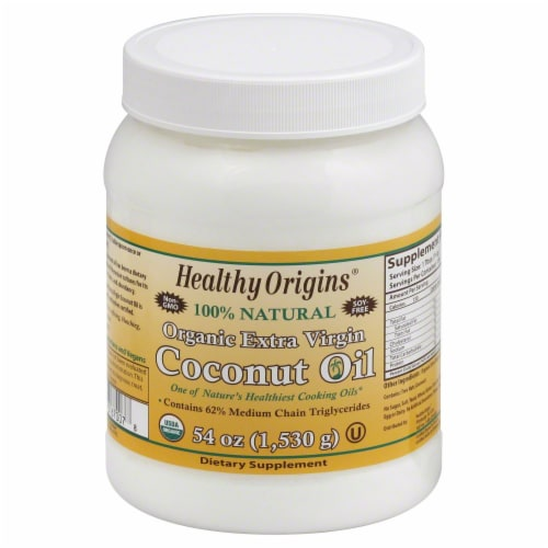 Healthy Origins Organic Extra Virgin Coconut Oil Perspective: front