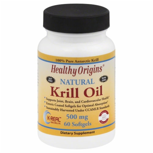 Healthy Origins Krill Oil 500 mg Softgels Perspective: front