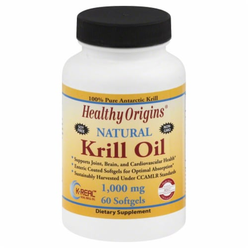 Healthy Origins Krill Oil 1000 mg Softgels Perspective: front