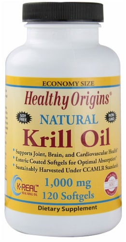 Healthy Origins  Natural Krill Oil Perspective: front