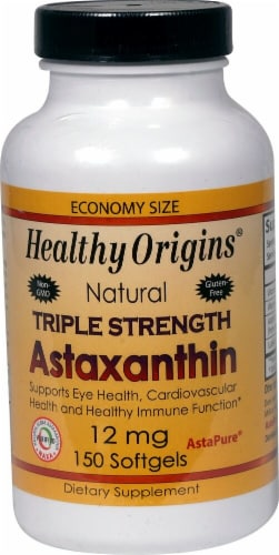 Healthy Origins  Astaxanthin Triple Strength Perspective: front