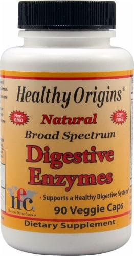 Healthy Origins  Broad Spectrum Digestive Enzymes Perspective: front
