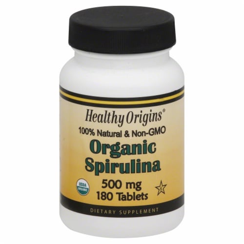 Healthy Origins Organic Spirulina Tablets 500 mg Perspective: front