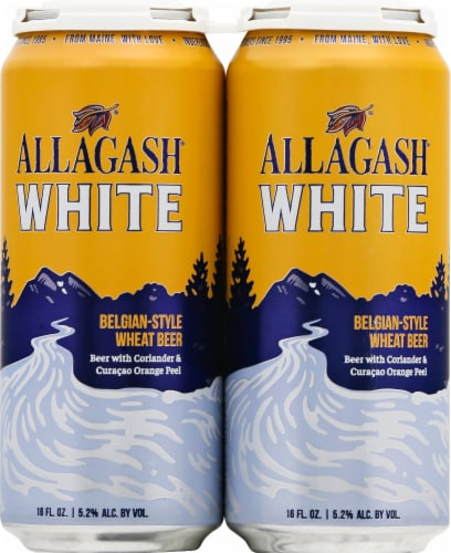 Allagash White Belgian Style Wheat Beer Perspective: front